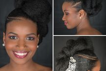 coiffures afro mariage