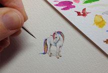 Dibujos en miniatura - pequeñas obras de arte