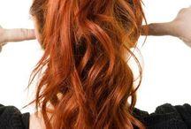 Cheveux cuivré doré roux