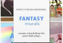 Fantasy / Fantasy Murals are a perfect way to create a fantasy backdrop t your child's imaginative play...