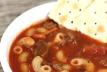 Tomato elbow macaroni soup