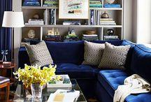 blue velvet sofas/couches