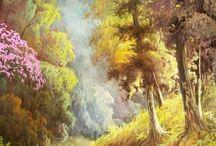 Doğa yağlı boya