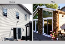 Before and After Window Projects / Get inspired to update your curb appeal and replace your old windows with new energy-efficient replacement windows.