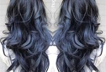 Blues black hair