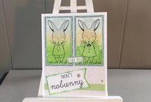 Easter bunny February stamp of the month