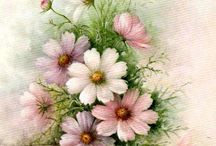 Flower  painting .