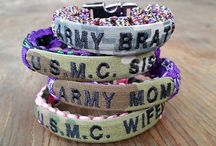 Name Tape Paracord Bracelets