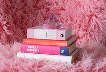 Pink furry armchair