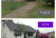 Before and after—homes