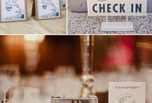 Travel themed weddings