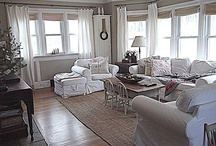 HOME: Living Room / Curated collection of inspiration for the living room. Casual spaces to gather with family and friends with a neutral palette and farmhouse style.