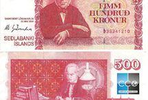 Billets Islande / L'Islande ne faisant pas partie de l'Union Européenne, la monnaie utilisée est la couronne islandaise (symbole international ISK). Elle a remplacé en 1918 la couronne danoise du fait de l'autonomie nouvelle de l'Islande par rapport au royaume du Danemark. Les billets de banque Islande en circulation sont : 500, 1000, 2000, 5000, 10 000 couronnes islandaises.