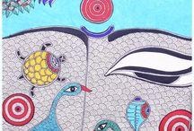 Indian Art - My fascination / Beautiful Madhubani / Mithila paintings collection from great artists.... / by Poornima Lakshminarayan
