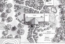 Plánky zahrad pro inspiraci / Když si nepozvete zahradního designéra, ale chcete si zahradu vytvářet sami. Inspirace se vždycky hodí.