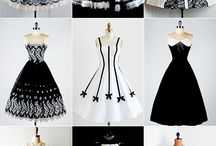 black and white dresses....just i am mad about it