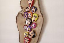 Taşların Ruhu / Çakıl taşları ile oluşan doğal tablolar