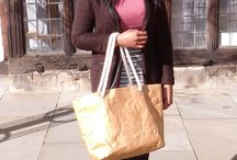 Carina with our rope handle bag in Canterbury / One of our best-selling new quirky and original bags - light, strong, waterproof and recyclable