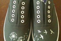 Paintings shoes diy
