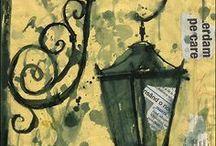 Ζωγραφική σε εφημερίδα