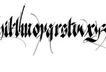 Calligraphy / gothic