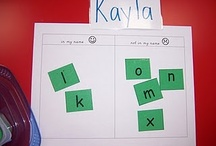 PRE-K Name / Looking for ways to teach your child how to spell and write their name? Check out these great ideas.
