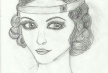 Portréty / Portréty, které jsem kreslila :)