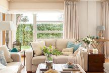 salones modernos tonos beige