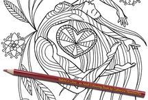Naked in Love: an Adult Colouring Book by Catherine Nessworthy / A love-themed adult coloring book with lovely nudes and lots of hearts. A lovely, romantic gift for artistic people for valentines or anniversaries.
