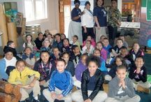 Hollister Elementary School Tour (12-5-2013) / One hundred seven third, fourth and fifth graders from Hollister Elementary School (Hollister, N.C.) toured the Roanoke Canal Museum. The students were accompanied by 14 adult chaperones, including Principal Melissa Richardson.