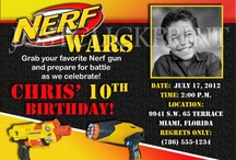 Nerf war birthday party