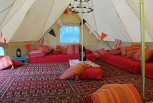 Emperor Tent - Red/Blue theme