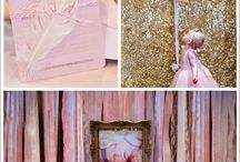 baby girl's first bday bash / *pink and gold glitter princess party *jellybean ranbow party