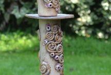 Ceramics totems