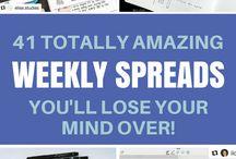 Bujo | Weekly spreads