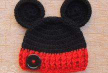touca do Mickey em crochê