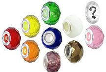 Rainbow Charm Bracelet Beads / Timeline Trinketts Faceted Crystal Charm Bracelet Beads Fit Pandora Jewelry European Style Bracelets
