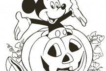 Disegni da colorare ad Halloween / Disegni da stampare e da colorare gratis per Halloween