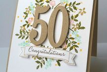 Stampin' Up! Number of Years cards