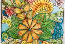 Coloring love / My finished coloring pages