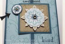 Folded cards.