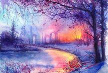 Watercolor Art / watercolor painting, watercolour art, wall art, home decor, original art, art print, wall art for sale, buy original art, framing paintings