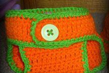 Crochet/knit diaper covers