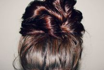Hair-updos, buns, ponytails