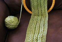 Sew-loom knitting