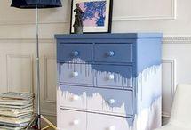 Cómodas restauradas e outros móveis