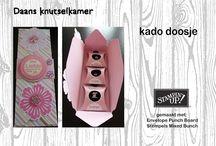 Doosjes - Kadoosjes - Cadeau verpakking / Inspiratie om een mooi doosje te maken.
