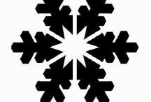 Трафареты снежинок для украшения