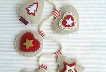 Christmas ornaments from felt