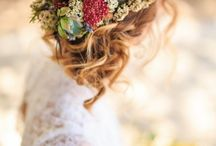 Barn wedding hair
